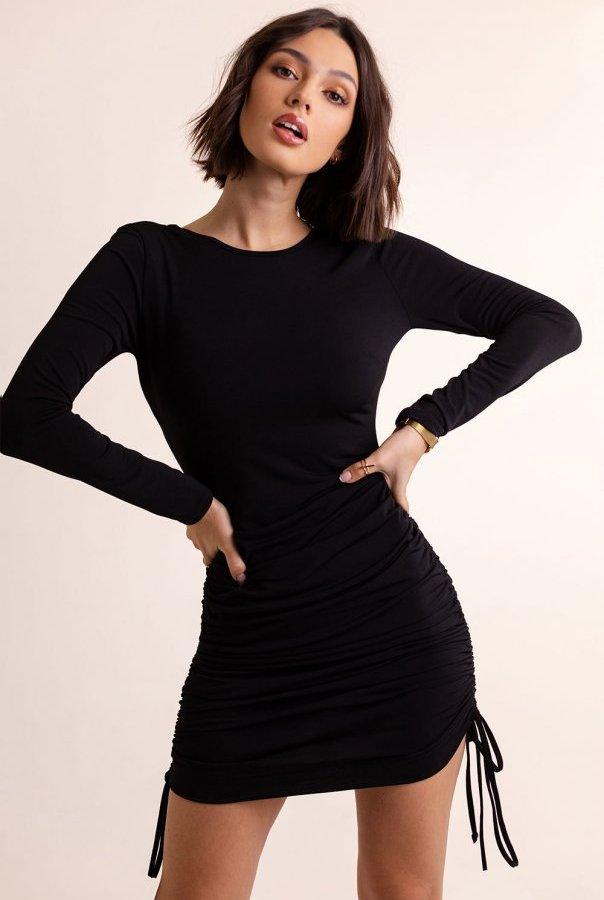 Sukienki 291-CZARNY