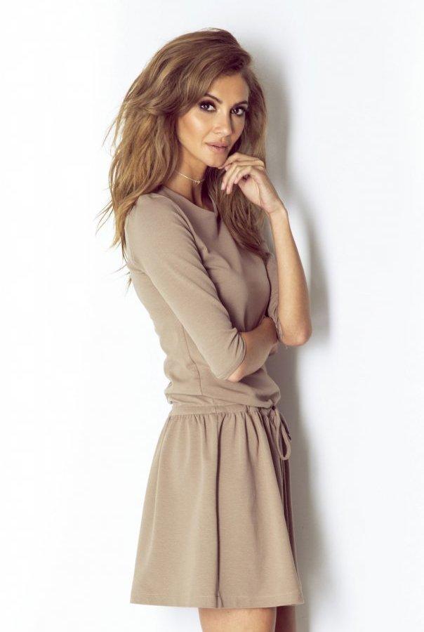 Sukienki NATHALIE-BEŻOWY