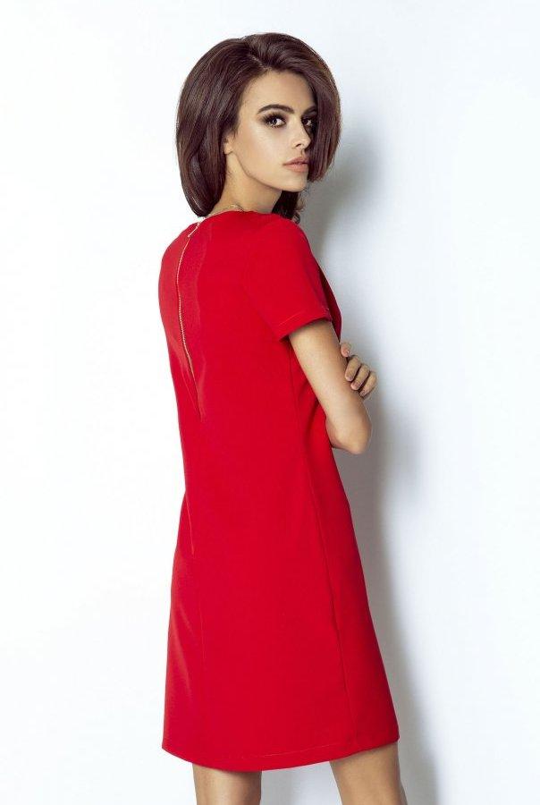 Sukienki 203-CZERWONY