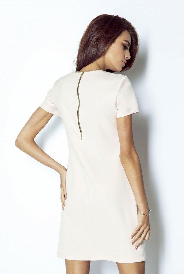 Sukienki 203-RÓŻOWY