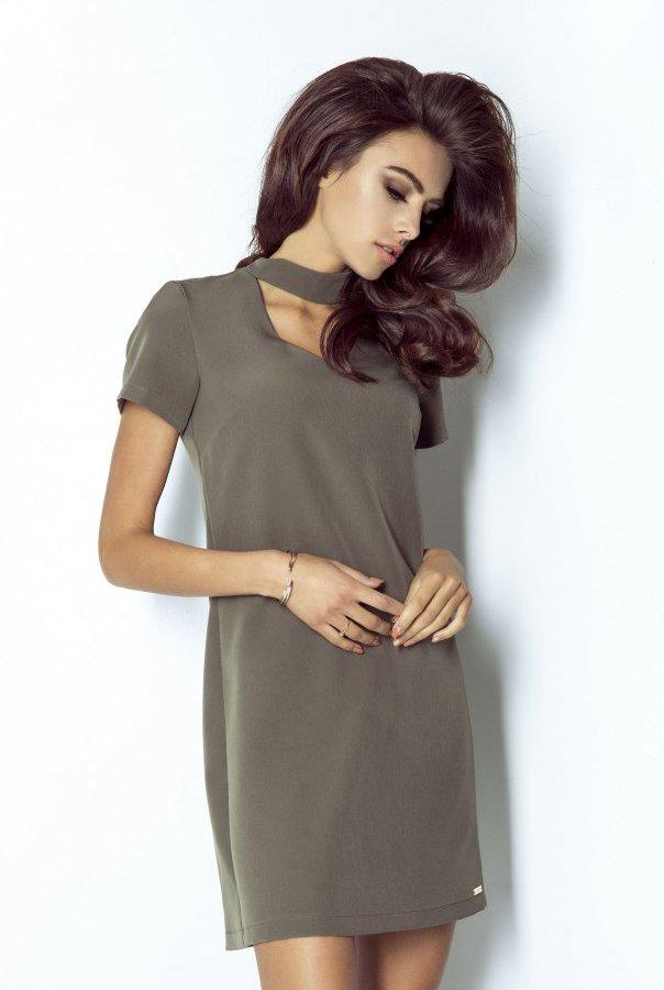 Sukienki 204-KHAKI