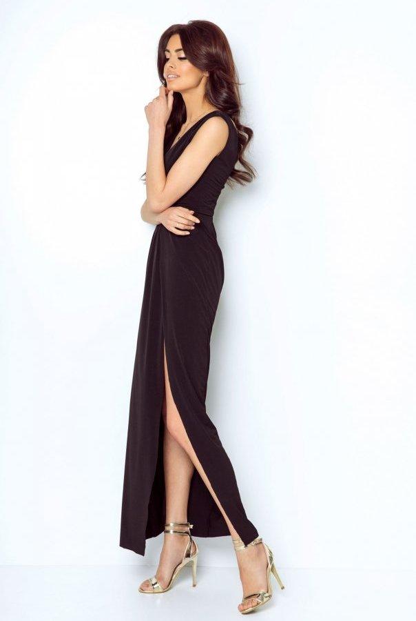 Sukienki 217-CZARNY