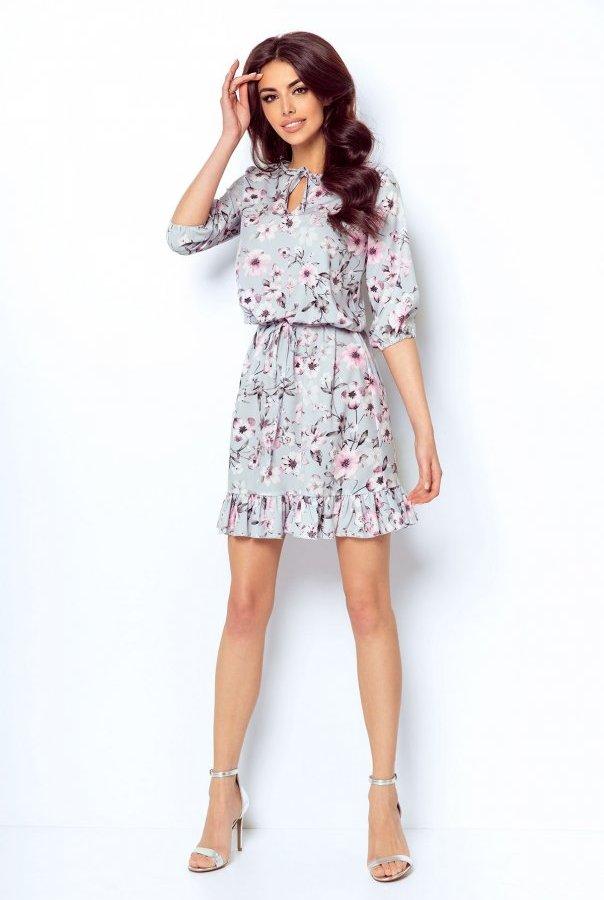 Sukienki 256-SZARY
