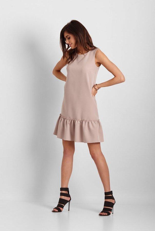 Sukienki 263-BEŻOWY