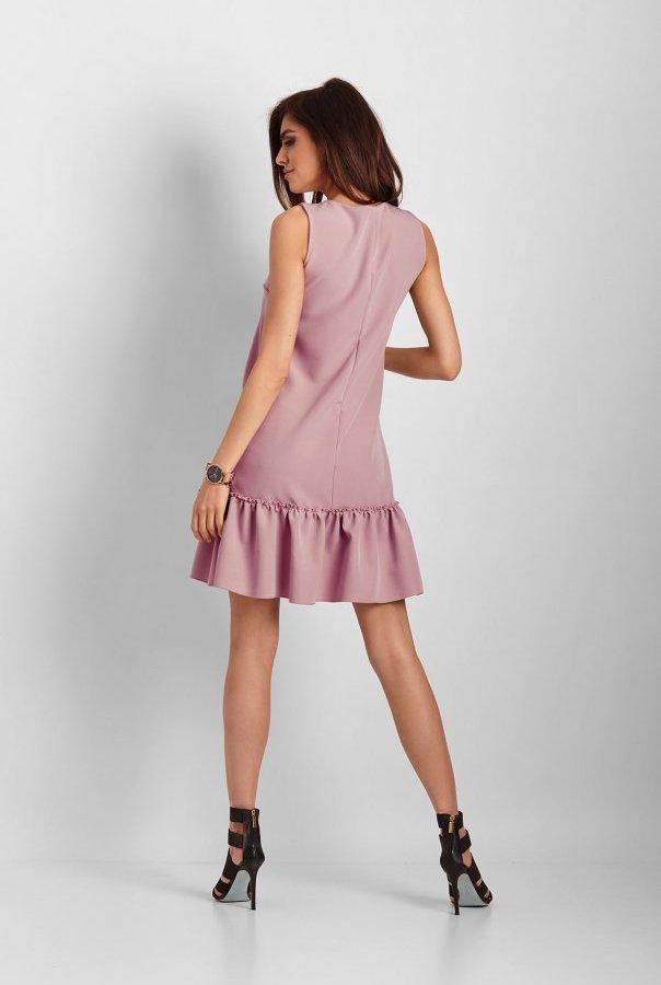 Elegancka sukienka Lorena bez rękawów 263-RÓŻOWY
