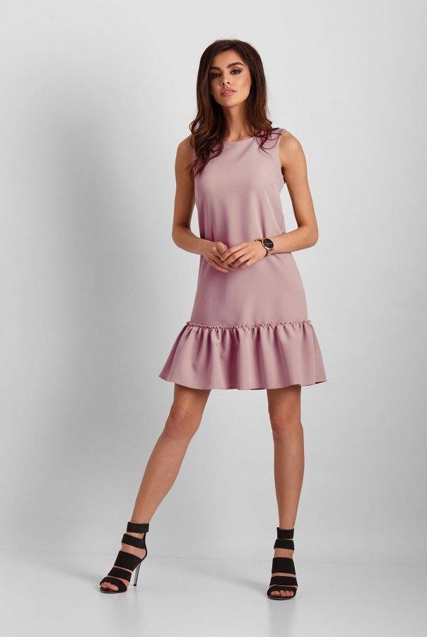 Sukienki 263-RÓŻOWY