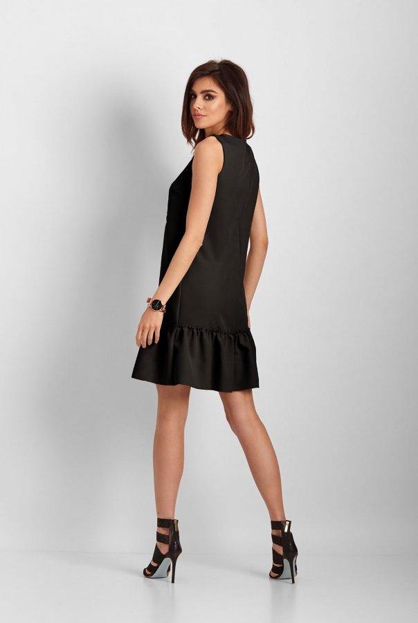 Elegancka sukienka Lorena bez rękawów 263-CZARNY