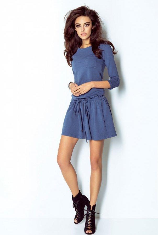 Sukienki 211-INDYGO