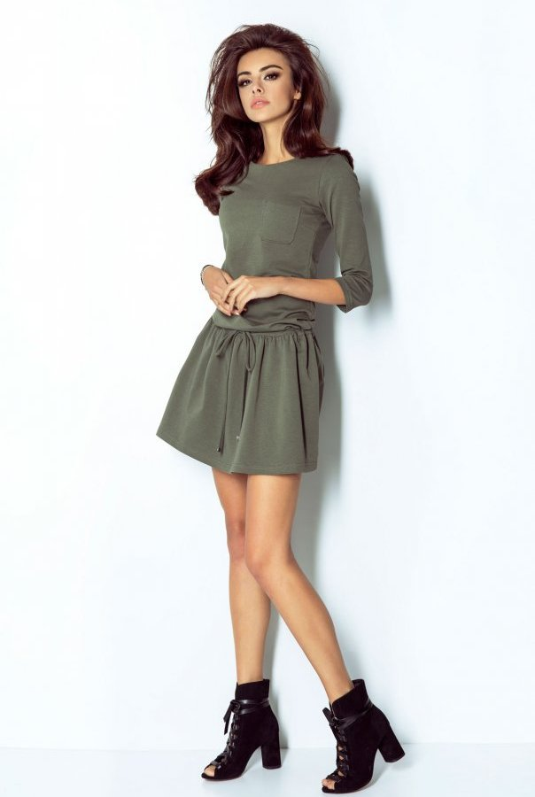 Sukienki 211-KHAKI