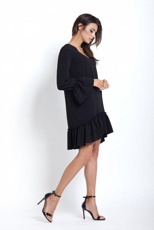 Sukienki 223-CZARNY