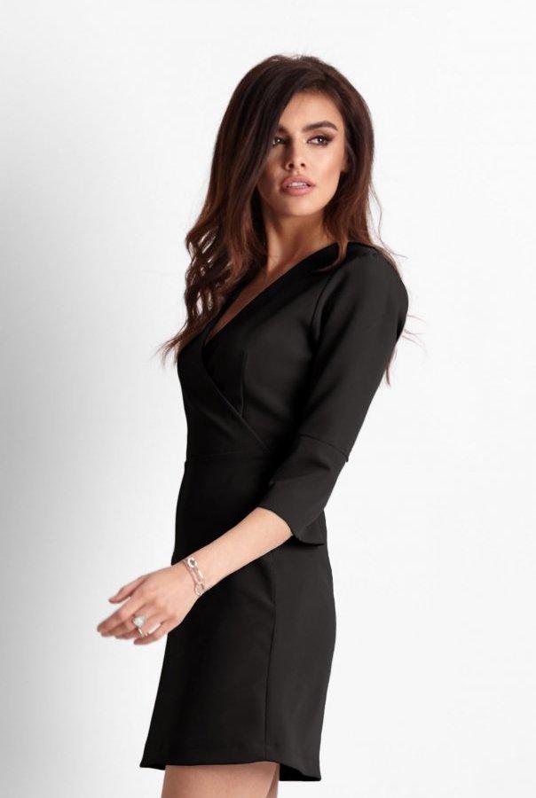 Sukienki 259-CZARNY