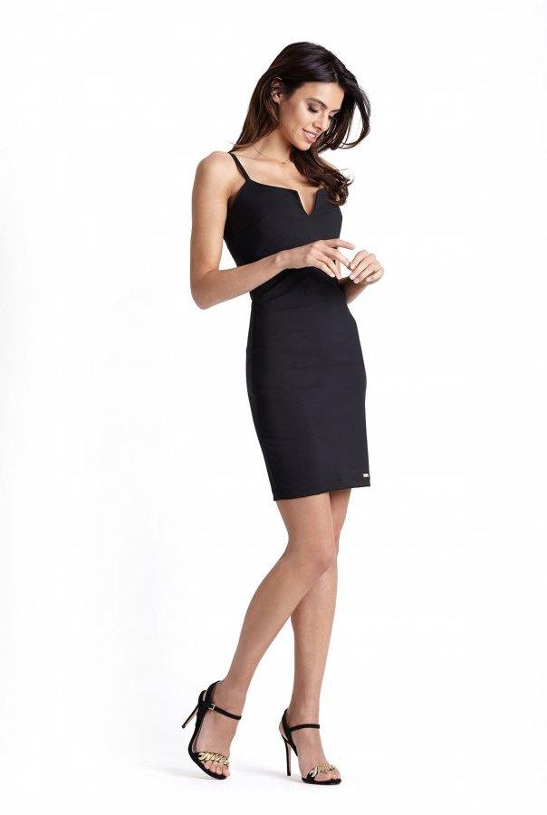 Sukienki 229-CZARNY