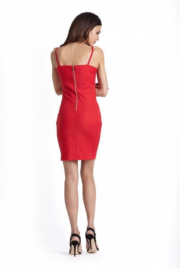 Sukienki 229-CZERWONY