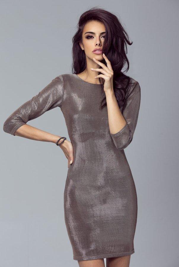 Sukienki 208-ZŁOTY