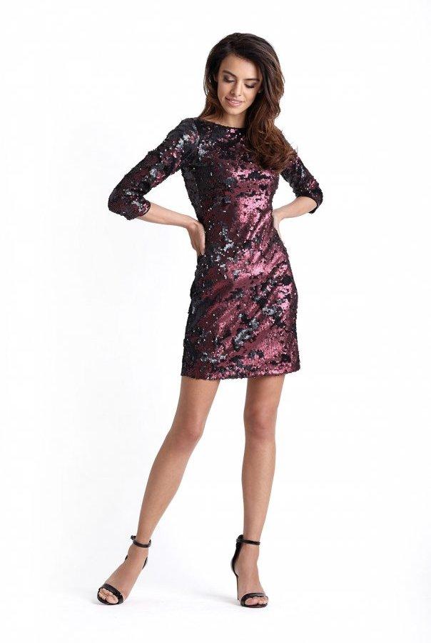 Sukienki 228-BORDO