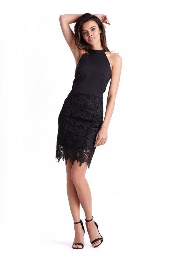 Sukienki 239-CZARNY