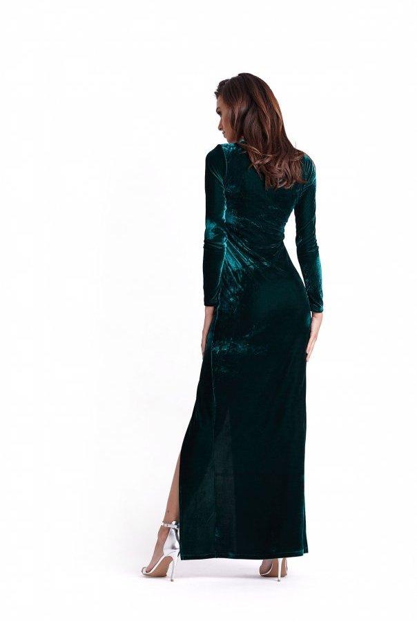 Sukienki 236-BUTELKOWA ZIELEŃ