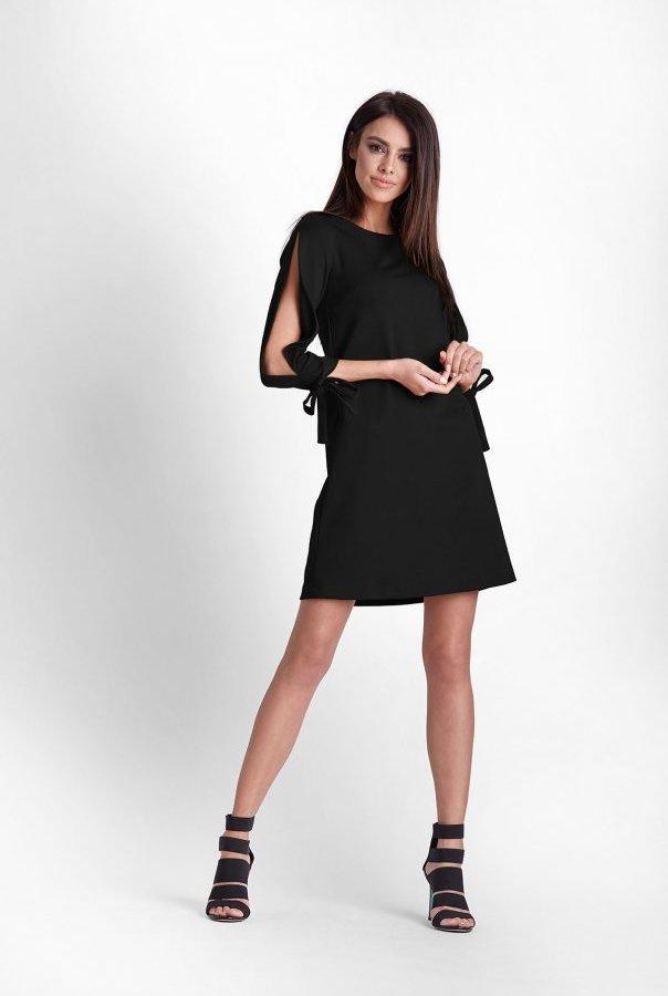 Sukienki 246-CZARNY
