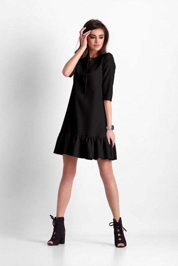 Sukienki 260-CZARNY