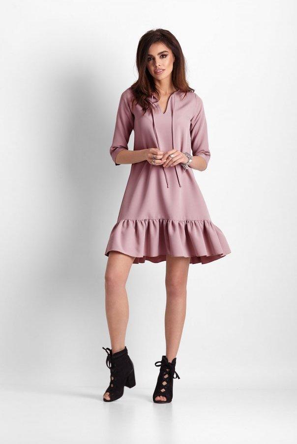 Sukienki 260-RÓŻOWY