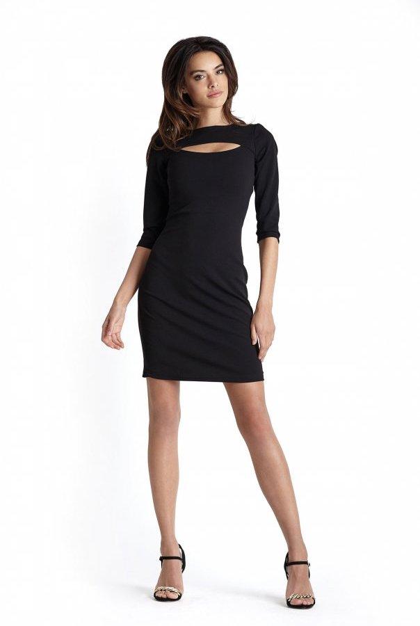 Sukienki 225-CZARNY