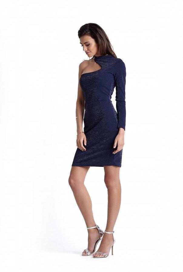 Sukienki 231-GRANAT.BŁYSK