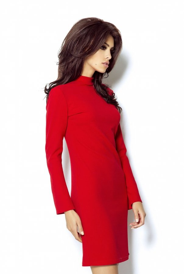 Sukienki 300-CZERWONY