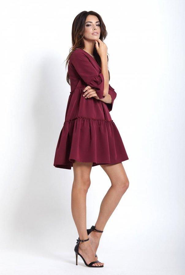 Sukienki 220-BORDO
