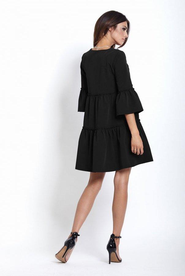 Sukienki 220-CZARNY