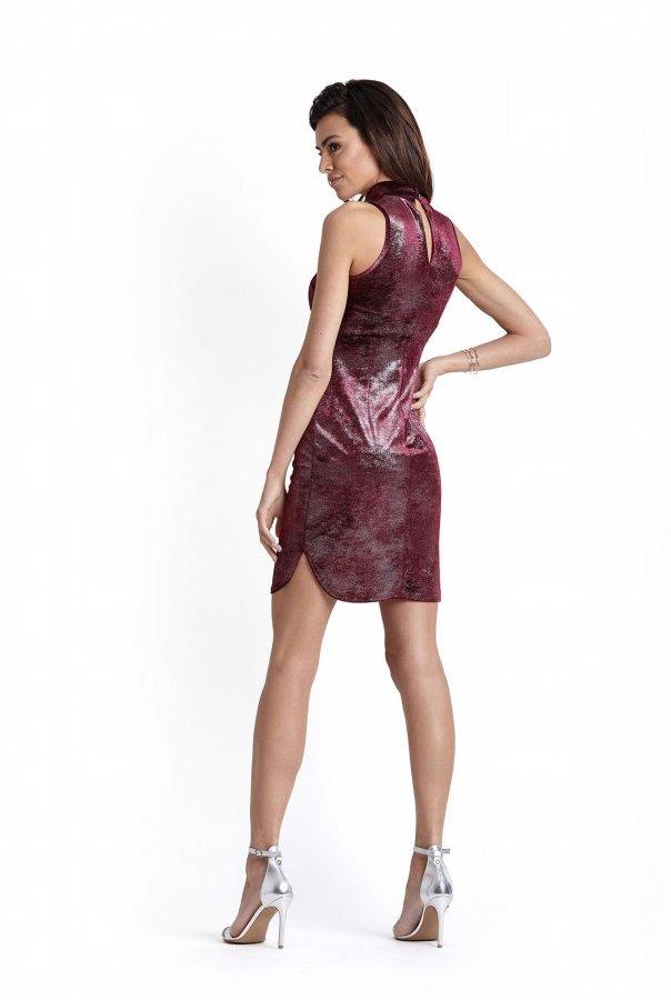 Sukienki 227-BORDO
