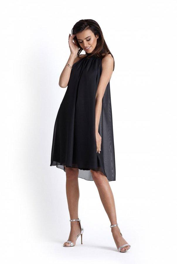 Sukienki 216-CZARNY