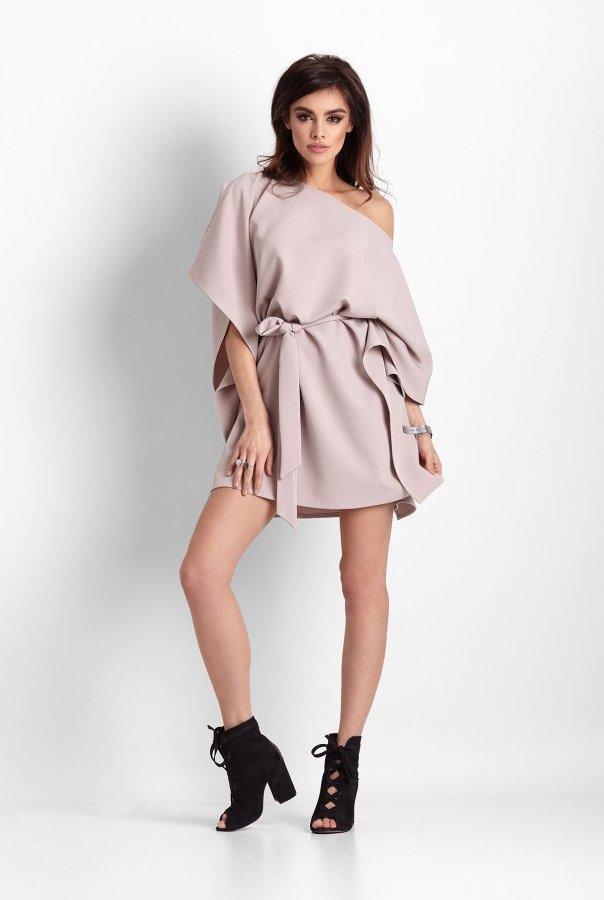 Sukienki 261-BEŻOWY
