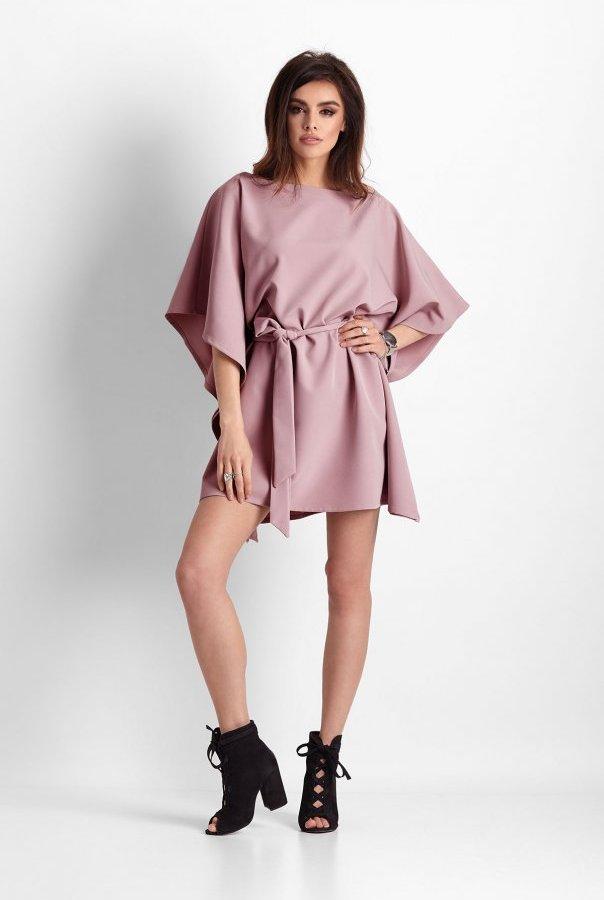 Sukienki 261-RÓŻOWY