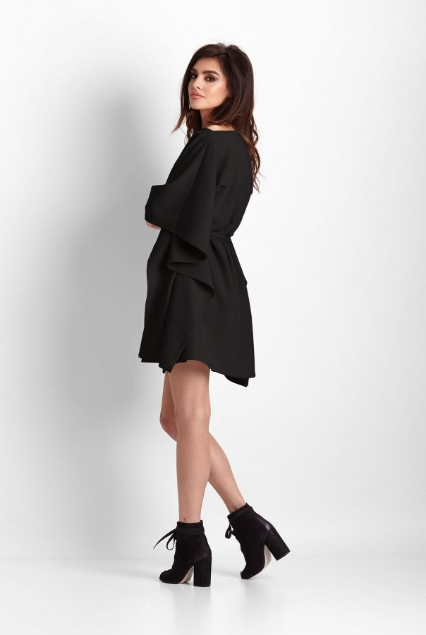 Sukienki 261-CZARNY