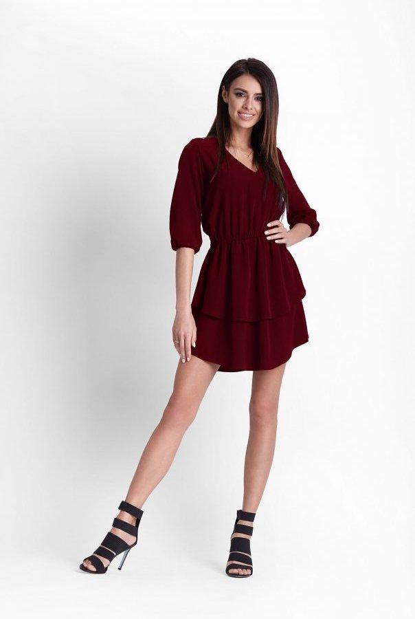 Sukienki 252-BORDO