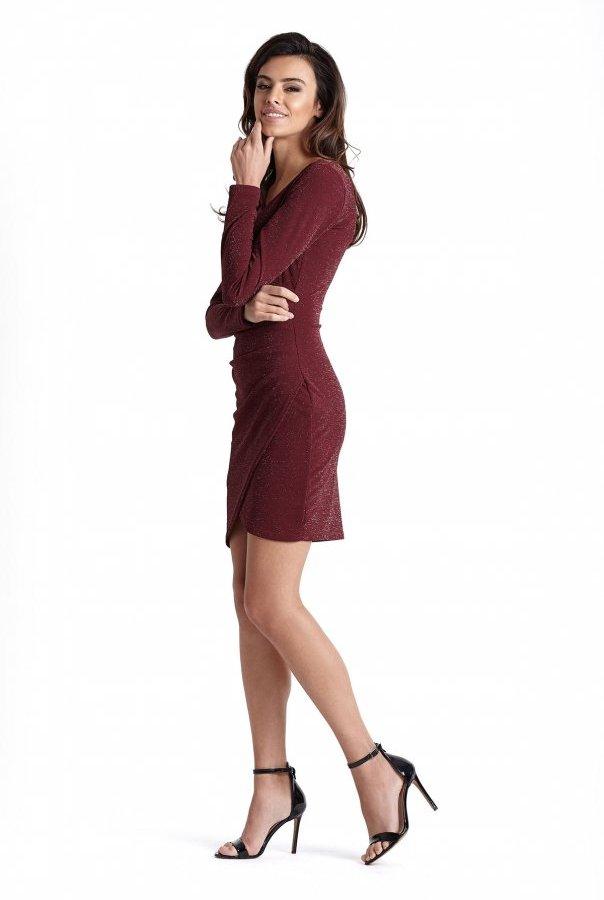 Sukienki 233-BORDO