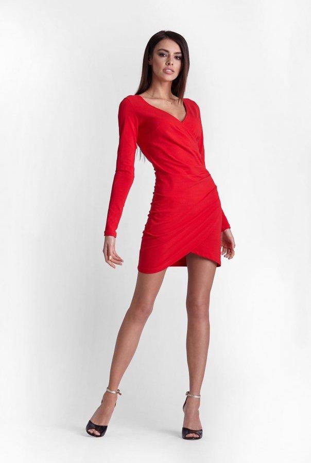 Sukienki 247-CZERWONY