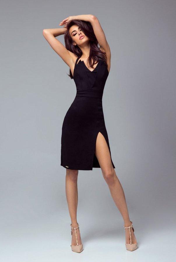 Sukienki 301-CZARNY