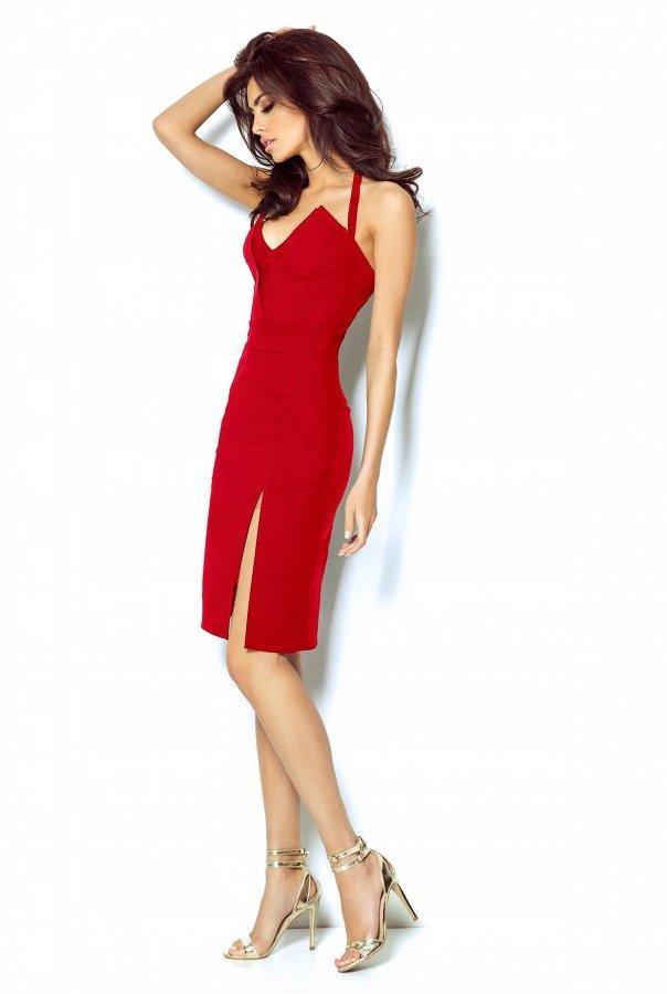 Sukienki 301-CZERWONY