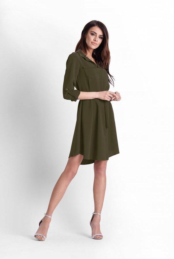 Sukienki 244-KHAKI