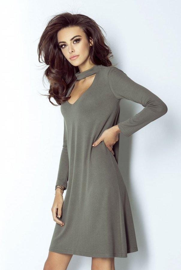 Sukienki 212-KHAKI