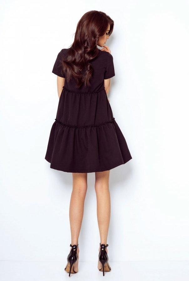 Sukienki 214-CZARNY