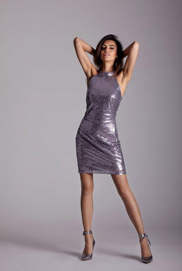 Sukienki 234-LILIOWY