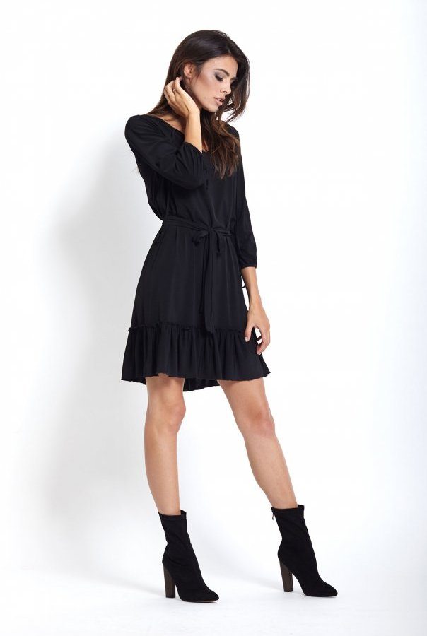 Sukienki 221-CZARNY