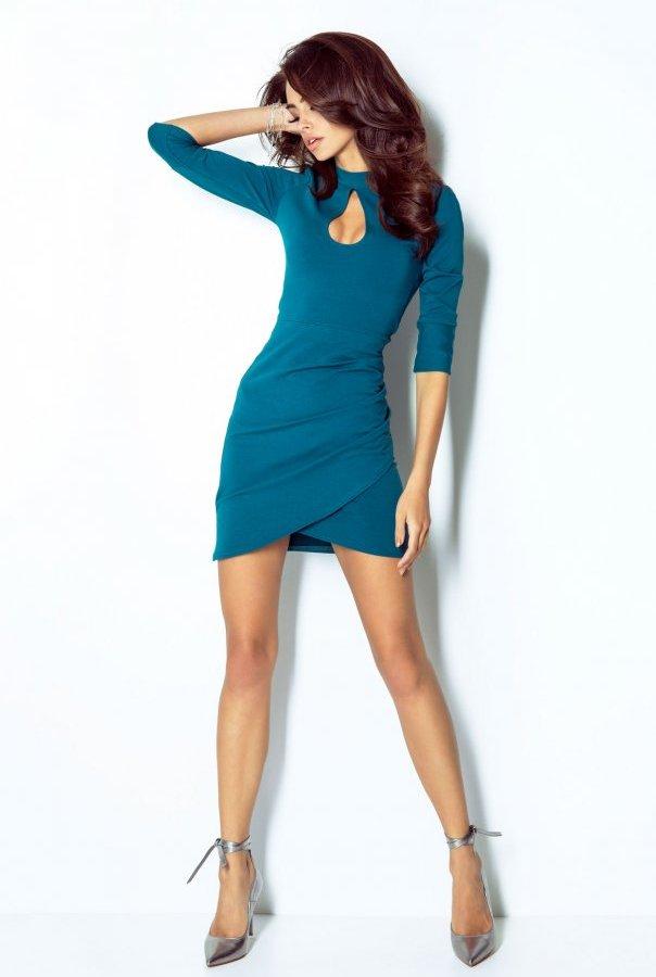 Sukienki 210-MORSKI