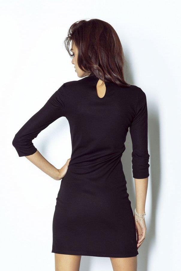 Sukienki 210-CZARNY