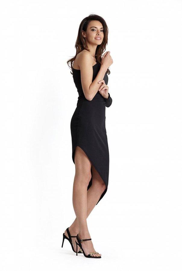 Sukienki 230-CZARNY