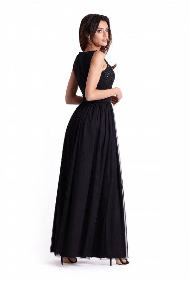 Sukienki 275-CZARNY