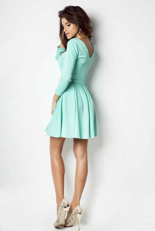 Sukienka rozkloszowana 172-MIĘTA