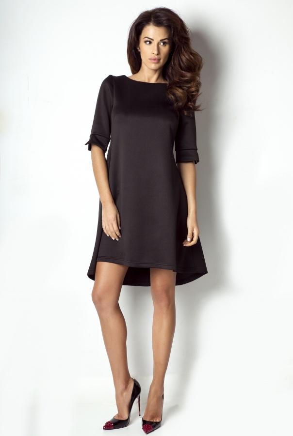Sukienki 173-CZARNY